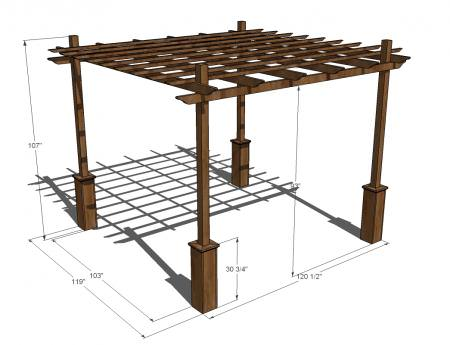 building a pergola instructions