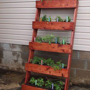 V- Vertical herb garden