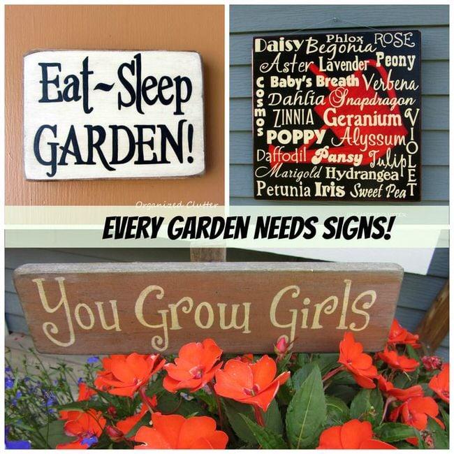 Garden Sign Ideas gardening sign 3d54e0dc589232a378fbcd84039480dc