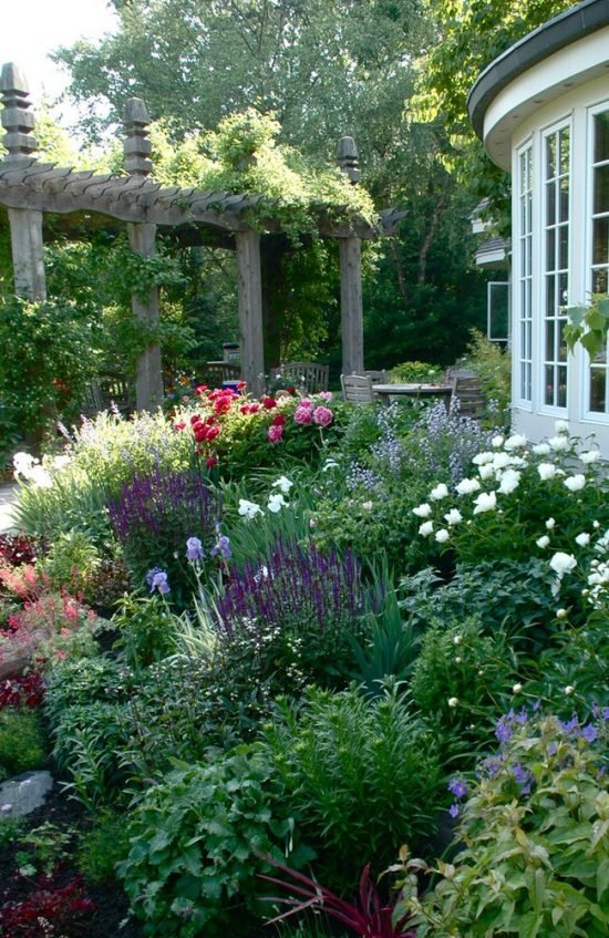 Make Your Garden Lush- Cottage garden & pergola