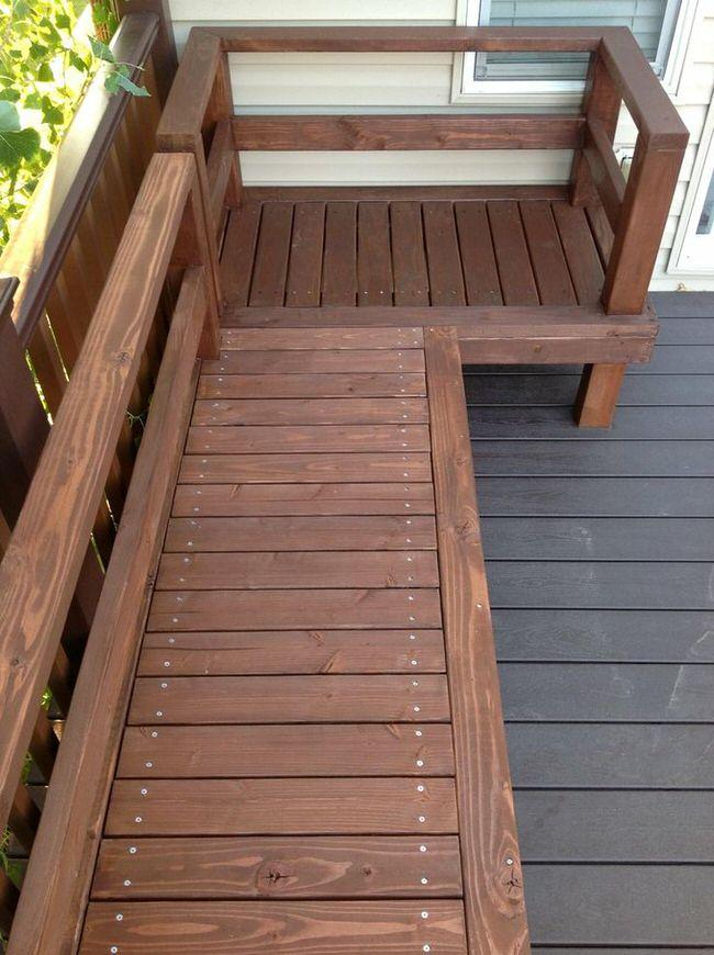 11 super cool diy backyard furniture projects the garden for Garden decking furniture
