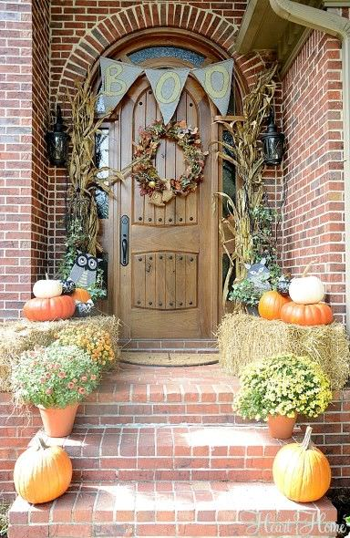 Such A Gorgeous Fall Front Door! E2eb18dbc4519e3fcaaf6fbd36590c9c