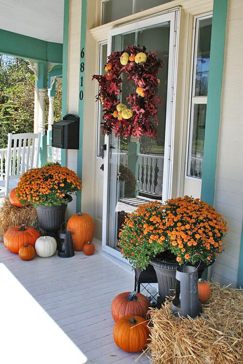 Beau Fall Front Porch 46. Got Fall Front Door Decoration ...