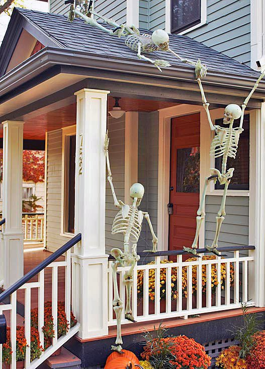 Halloween Front Yard Ideas Part - 30: Halloween-front-porch-22. U0027
