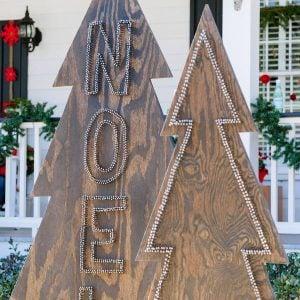 DIY Outdoor Christmas Yard Decorations