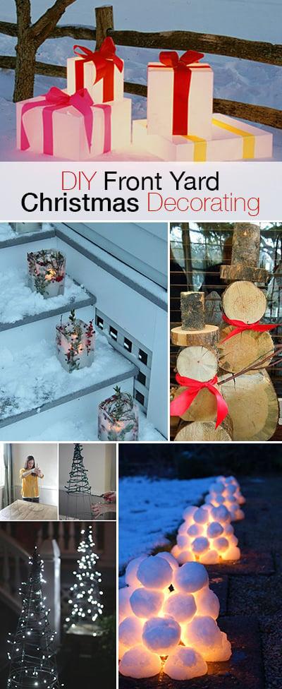 Christmas Decorating Ideas Front Yard : Diy front yard christmas decorating projects the garden