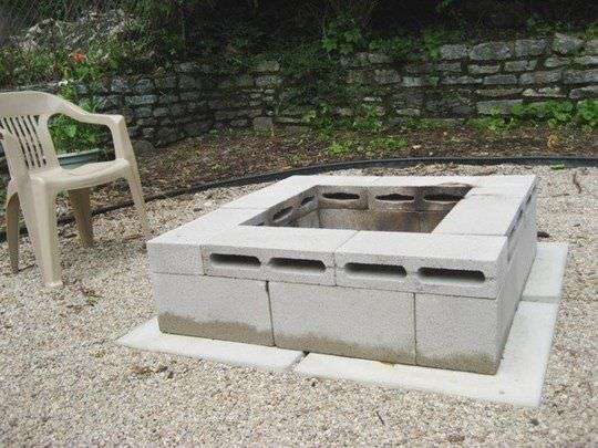 Cinder Block Fit Pit Homemade