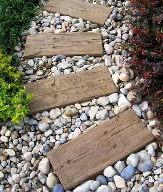 Step by step diy garden steps and stairs the garden glove - Yard stepping stone ideas ...