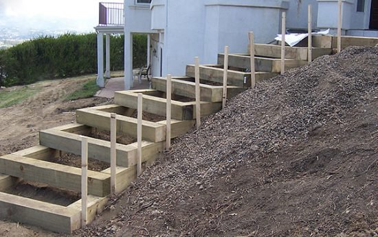 DIY Garden Steps and Outdoor Stairs