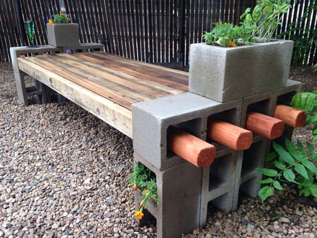 Cinder Block Furniture Backyard : Ways to Use Cinder Blocks in the Garden  The Garden Glove