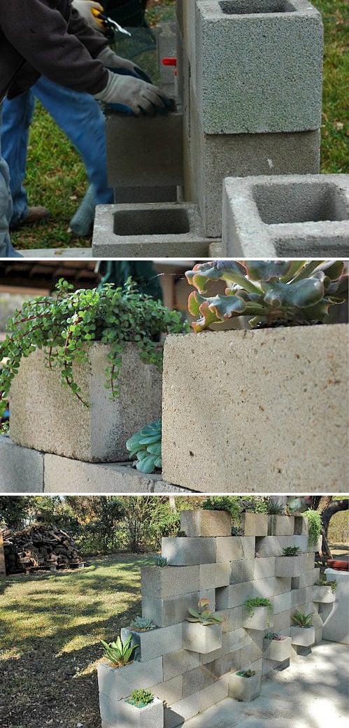 Cinder Block Garden Projects 95