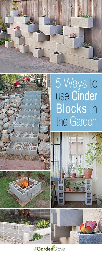 Cinder Blocks in the Garden