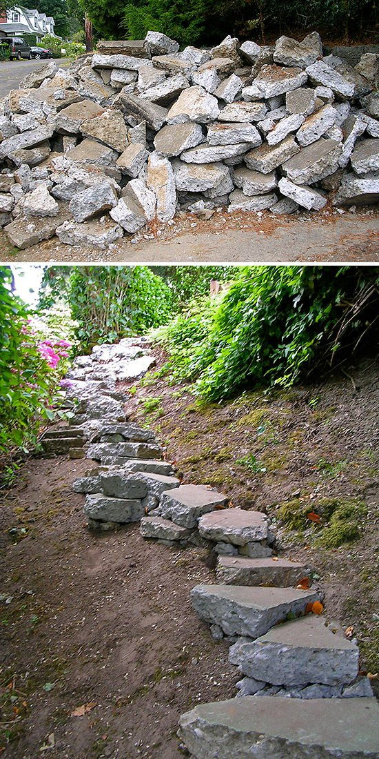 Step by step diy garden steps and outdoor stairs the garden glove garden steps stairs diy 2 workwithnaturefo