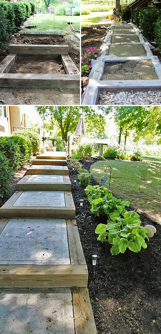 Step by step diy garden steps and outdoor stairs the for Least expensive house to build