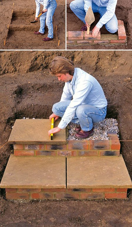 Building Stone Steps : Step by diy garden steps and stairs the glove
