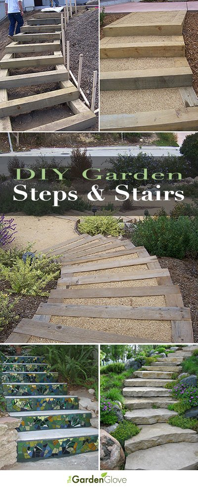 Step by step diy garden steps and stairs the garden glove for Steps to building a house yourself