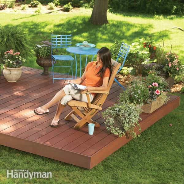 Backyard Decks Diy : How to Build a Fabulous Floating Deck  The Garden Glove