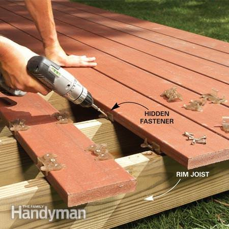 How to build a fabulous diy floating deck the garden glove for How to frame a house step by step