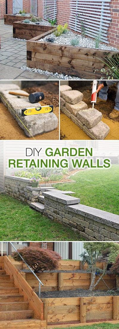 DIY Garden Retaining Walls