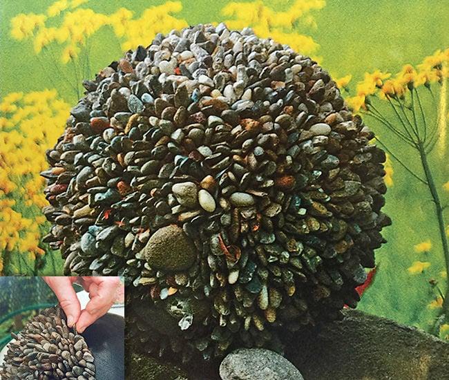 dIY garden globe pebble bowling ball