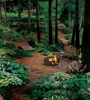 firepit Ideas For Wooded Backyard Landscape on ideas for muddy backyards, ideas for sloped backyards, ideas for sloping backyards,