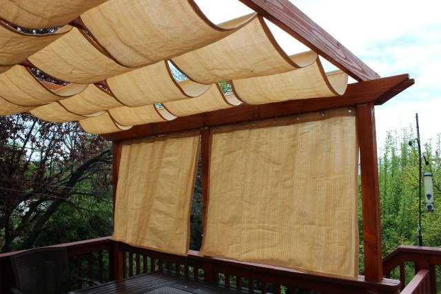 But I Love This One, Because Itu0027s A Freestanding DIY Fabric Pergola That ...
