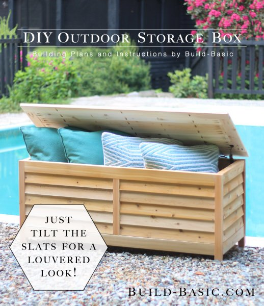 This DIY outdoor storage box by 'Build Basic' has some real style ...