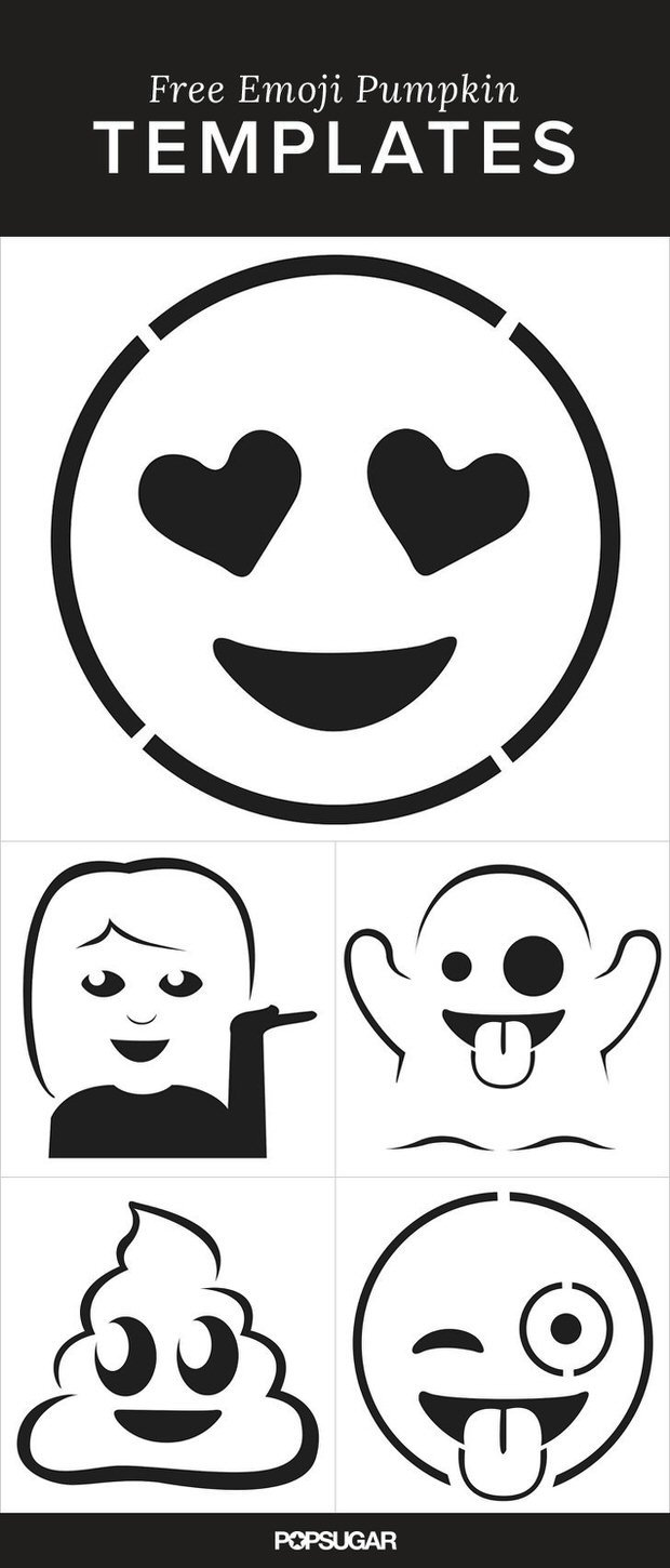 free emoji templates 16 pumpkin carving projects you never thought of the