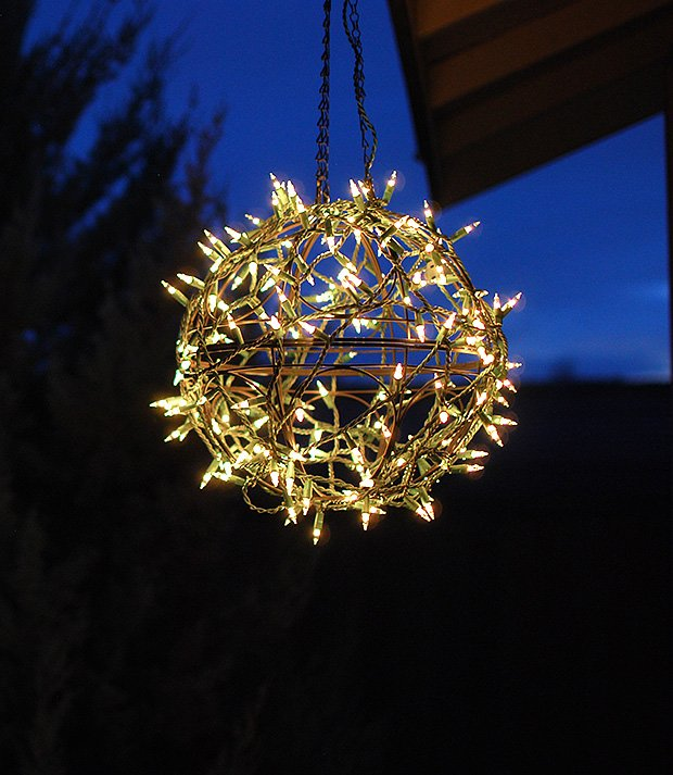 Christmas Light Ideas Diy Globe
