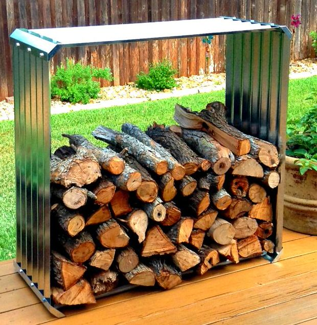Super easy diy outdoor firewood racks the garden glove