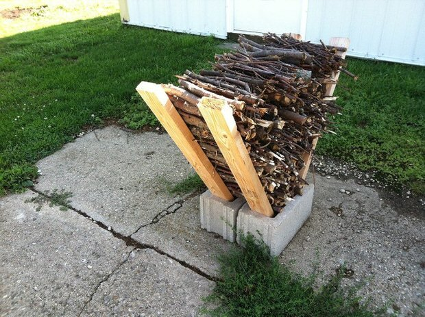 Super easy DIY firewood racks- 7