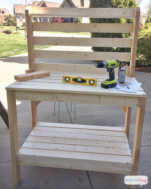 we found this garden work bench idea at house of hawthornes the original blogger she had credited with this project no longer exists but we think an - Garden Work Bench