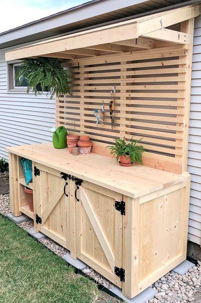18 Diy Potting Benches You Ll Want To Show Off The Garden Glove