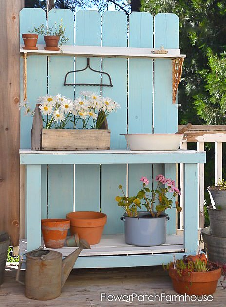 18 Diy Potting Benches You Ll Want To Show Off The