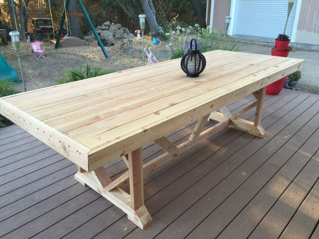 pinspiration mommy she built this diy large outdoor dining table