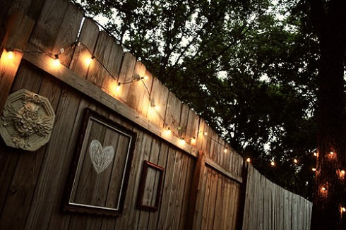 String Lights On Fence : 15 Creative Garden Fence Spruce-Ups The Garden Glove