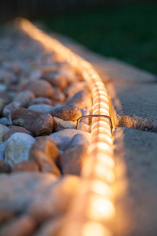 Rope Light Walkway