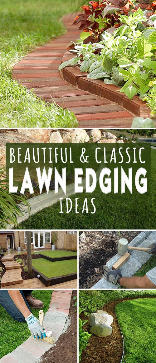 Beautiful & Classic Lawn Edging Ideas
