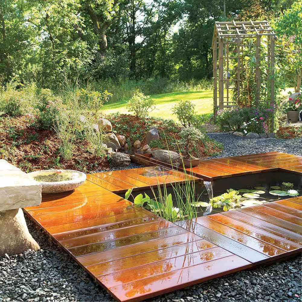 How to build a pond easily cheaply and beautifully the for How to build a koi pond on a budget