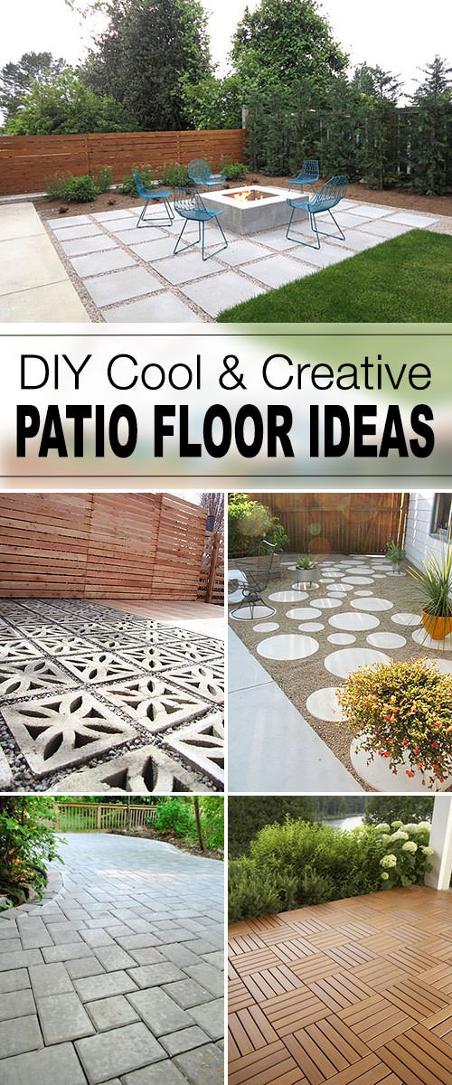 'Young House Love' has a full tutorial on how to build a paver patio for  you! Lot's of pics, and good instruction that can be adapted for several  different ... - 9 DIY Cool & Creative Patio Flooring Ideas The Garden Glove
