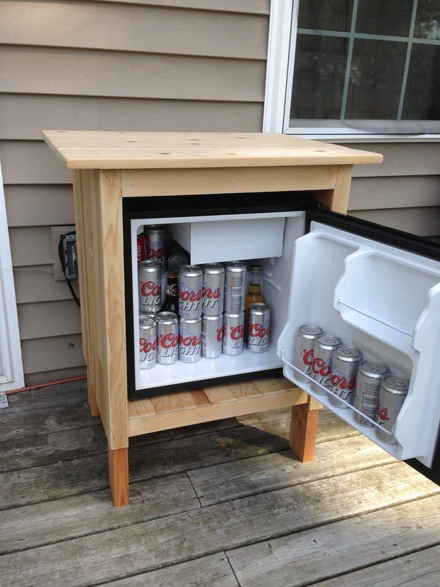 Diy outdoor kitchens and grilling stations the garden glove for Outdoor grill cabinet plans