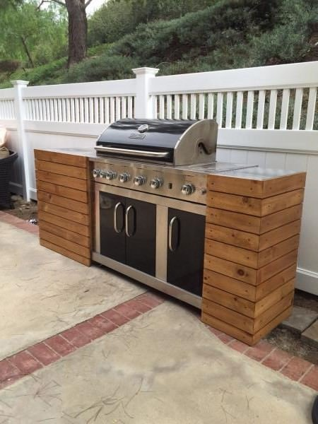 Diy outdoor kitchens and grilling stations the garden glove for Building an outside kitchen
