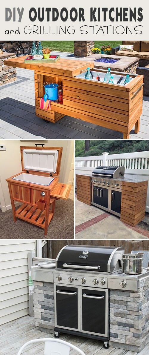 Diy Outdoor Grill Stations Kitchens The Garden Glove