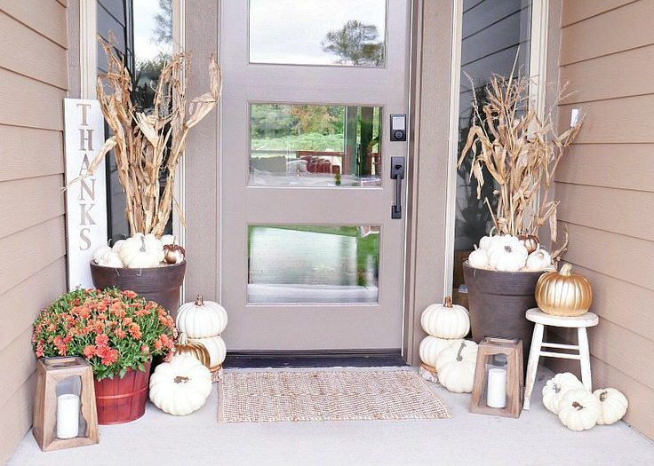 Love This Fall Decorating By The Diy Mommy First Of All Her Front Door Wreath Is Not Typical Decor We That It Can Transition Into Winter
