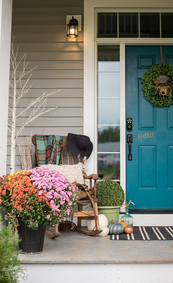 DIY Fall Front Door Decorations • The Garden Glove