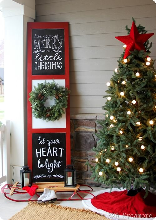 diy holiday signs for the front porch - Diy Christmas Signs