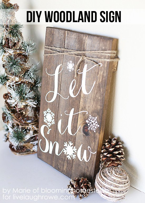 DIY Holiday Signs for the Front Porch | The Garden Glove