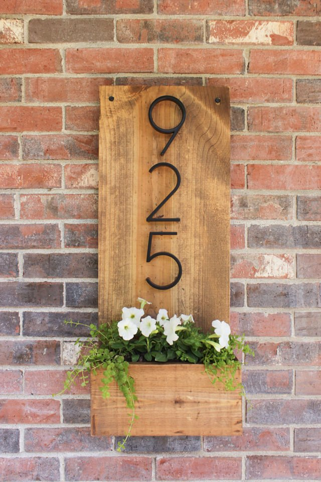 Creative Diy House Number Signs Address Plaques The Garden Glove