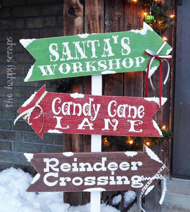 DIY Holiday signs