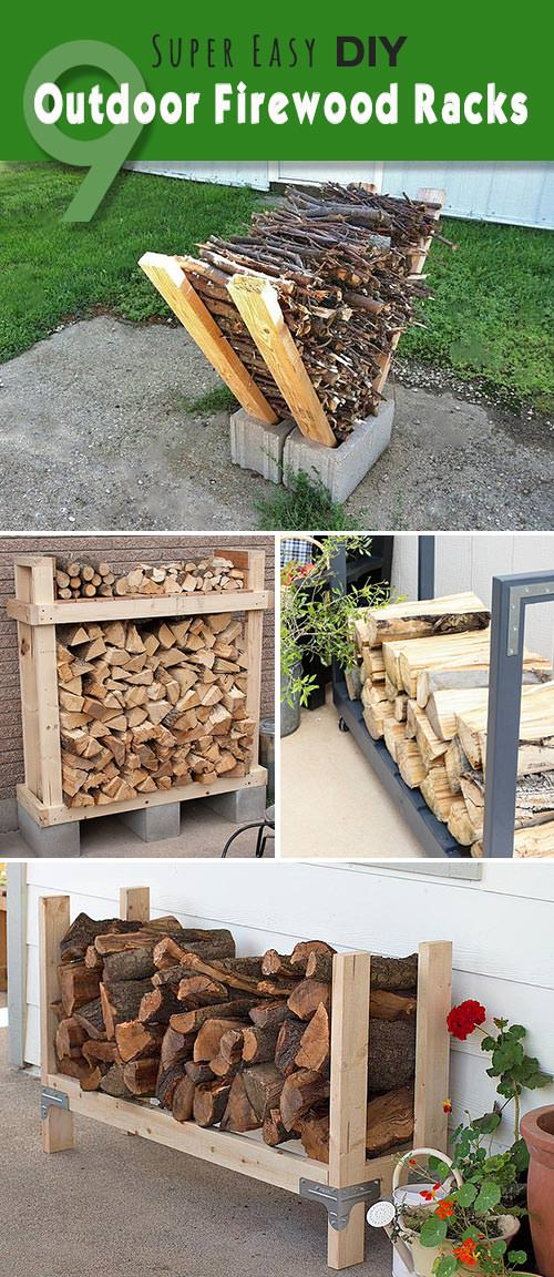 Easy DIY Outdoor Firewood Racks